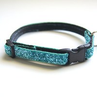 Aqua Sparkle Cat Collar