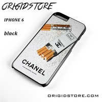 Girly White Glitter Chanel Cigarettes Packet For Iphone 6 Case UY