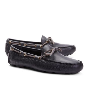 Pebble Leather Driving Mocs - Brooks Brothers