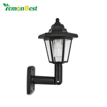 2pcs Waterproof Outdoor Solar Garden Light Auto ON for Fence Yard Decoration or Wall Lamp