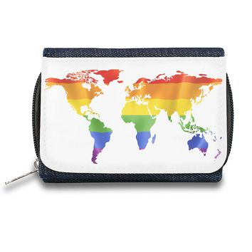 World Map Zipper Wallet| The Stylish Pouch To Keep Everything Organized| Ideal For Everyday Use & Traveling| Authentic Accessories By Styleart