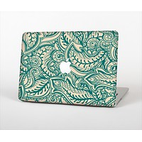 The Delicate Green & Tan Floral Lace Skin Set for the Apple MacBook Pro 13""