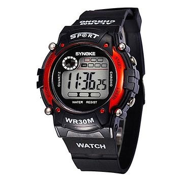 Waterproof Electronic Multifunction Sports Wrist Watch For Kids Child Boys LED Digital Relojes Men