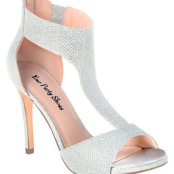 Your Party Shoes Paisley T-Strap Formal Prom Heels