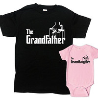 Grandpa And Granddaughter Shirts Matching Family Outfits Fathers Day Gift From Granddaughter Gift To Grandpa Gift Ideas - SA1074-1076