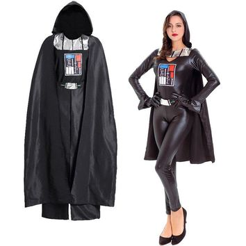 Black Pvc Leather Star Wars Cosplay Soldier Outfit Sexy Warrior Costume Woman Carnival Halloween Costumes For Adults