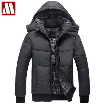 Men's winter Hoodies quilted jacket warm fashion male puffer overcoat parka Outwear Winter cotton-padded Man hooded coat
