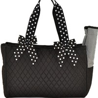 Lar Lar Quilted Solid 2pc Diaper Tote Bag