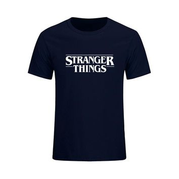Newest 2017 Fashion Stranger Things T Shirt Men Brand Clothing Funny T-shirt Novelty Cool Tops Tees Men's Short Sleeve Costumes