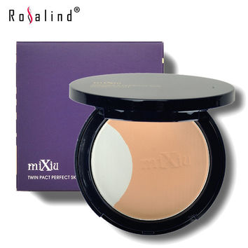 Brand MiXiu Professional Face Makeup Twin Pact Perfect Skin Pressed Powder Concealer