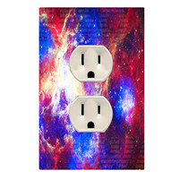 Wall Plug Decal Outlet Cover Outer Space Theme Decor OU20