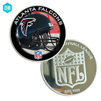Christmas Souvenir Coin ATLANTA FALCONS 999.9 Silver Plated American NFL Metal Coin for Human Collection