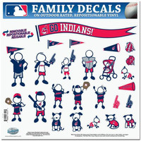 Cleveland Indians MLB Family Car Decal Set (Large)