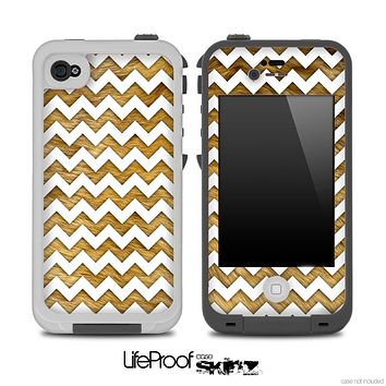 Chevron Pattern with Fur Skin for the iPhone 5 or 4/4s LifeProof Case