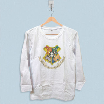 Long Sleeve T-shirt - Harry Potter Hogwarts School of Witchcraft and Wizarddry Logo