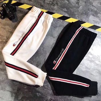 Champion Women Men Lover Casual Trousers Sport Pants Sweatpants