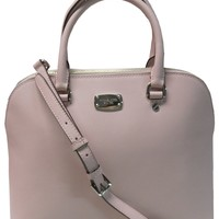 Michael Kors Cindy Large Dome Satchel Leather