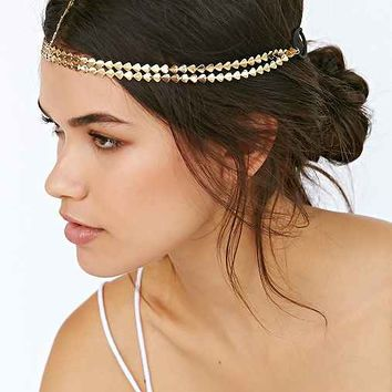 Golden Arrows Goddess Chain Headwrap- Gold One