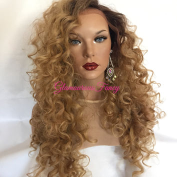 WAND Curls SWISS Root Blond Front Lace Wig 22""
