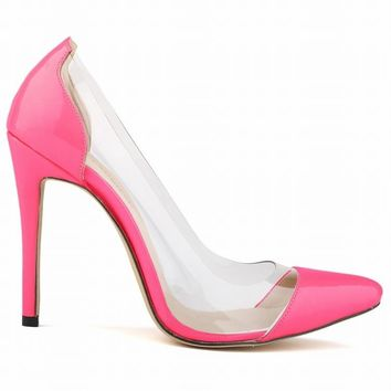 STYLEDOME Spring Summer Women Pumps Elegant Pointed Toe Transparent Female High Heels Fashion Bride Party Shoes Woman Zapatos Mujer