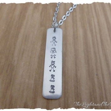 Personalized Family Necklace - Add Each Member of the family & pets - Gift for her - Gift for mom - Gift for Grandma