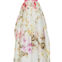 Rose Print Strapless Gown by Naeem Khan - Moda Operandi