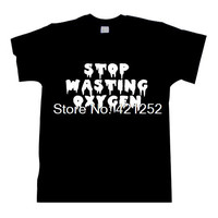 Pastel Goth Shirt  Stop Wasting Oxygen Pastel Goth Clothing Mint Orchid Clothing T-Shirt SHIRT
