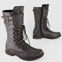 textured buckled combat boot $39.00 in BROWN - Boots | GoJane.com