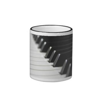 Piano Keys Close-Up Coffee Mug