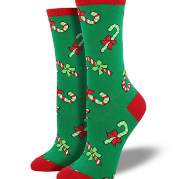 Socksmith Candy Canes Green Socks