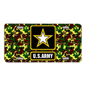 Smart Blonde United States Army Star Novelty Vanity Metal License Plate Tag Sign