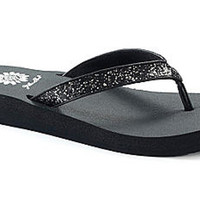 Yellow Box Suzanne Black Flip Flops