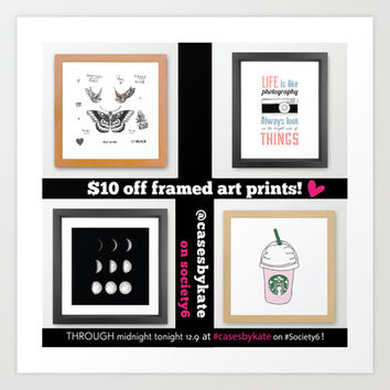 $10 Off All Framed Art Prints from Cases by Kate! Art Print by Kate