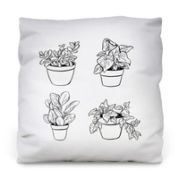Desk Plants Outdoor Throw Pillow