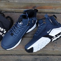 Acronym City MID Leather beep blue/white Size 40-45