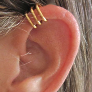 No Piercing Men's Unisex Circles Ear Cuff by ArianrhodWolfchild