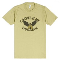 Castiel Is My Wingman-Unisex Dijon T-Shirt