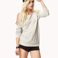 Bejeweled Cutout Sweatshirt