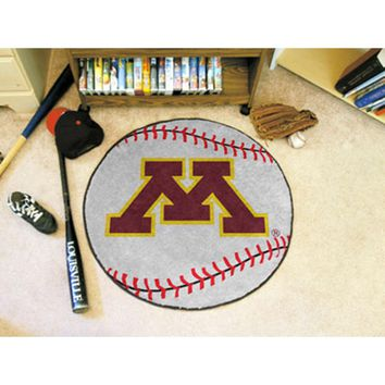 "Minnesota Golden Gophers NCAA Baseball"" Round Floor Mat (29"")"""