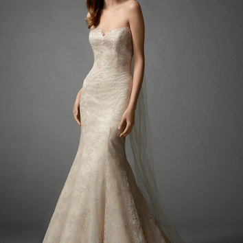 Watters 7060B Lace Mermaid Bridal Gown