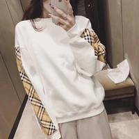 Burberry Women Fashion Casual Top Sweater Pullover