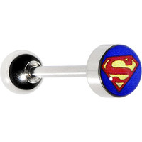 Licensed Superman Barbell Tongue Ring