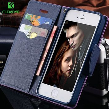 For iPhone 4 Cases 4S 4G Case For iPhone 7 6 6S Plus 5 5S SE 5C Leather Cases For Apple iPhone 4 4S Case Card Holder Wallet Bags