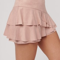 Daydreaming Ruffle Skort (Blush)