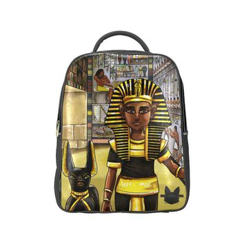 King Tut Vegan Leather Adult Popular Backpack (Model 1622)