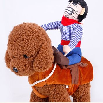 2017 Novelty Funny Dog Costume Pet clothes Cowboy Dressing up Jacket for Small Medium Large Dogs Chihuahua Yorkshire Poodle XL