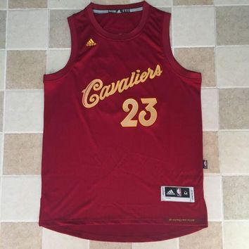 KUYOU Cleveland Cavaliers LeBron James Christmas Red 100% Authentic Jersey