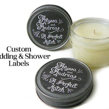 Candle Favors 48 4oz Custom Favors - Wedding Favors - Bridal Shower Favors - Baby Shower Candles - Party Favors - Unique Favors Urban Chaos