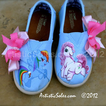 My Little Pony Themed Custom TOMS Shoes - Tiny TOMS
