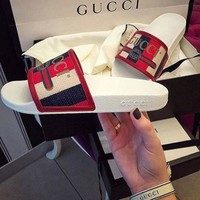 GUCCI women Cloth slippers